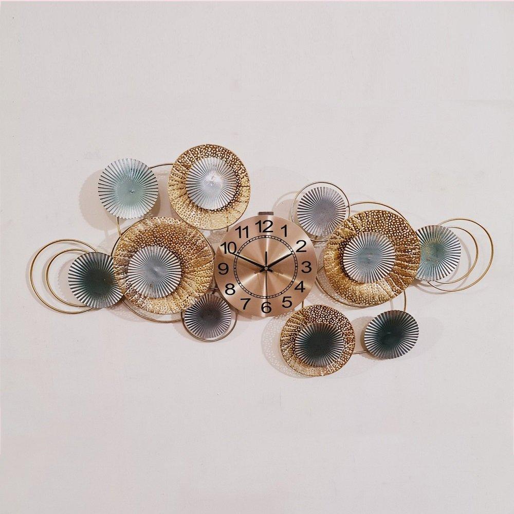 Đồng hồ đính đá treo tường vòng tròn nghệ thuật