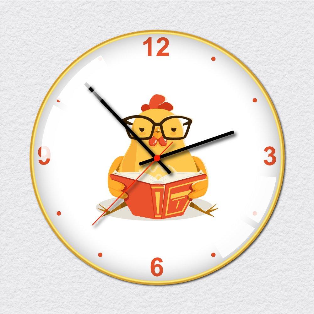 Đồng hồ vintage gà vàng đọc sách