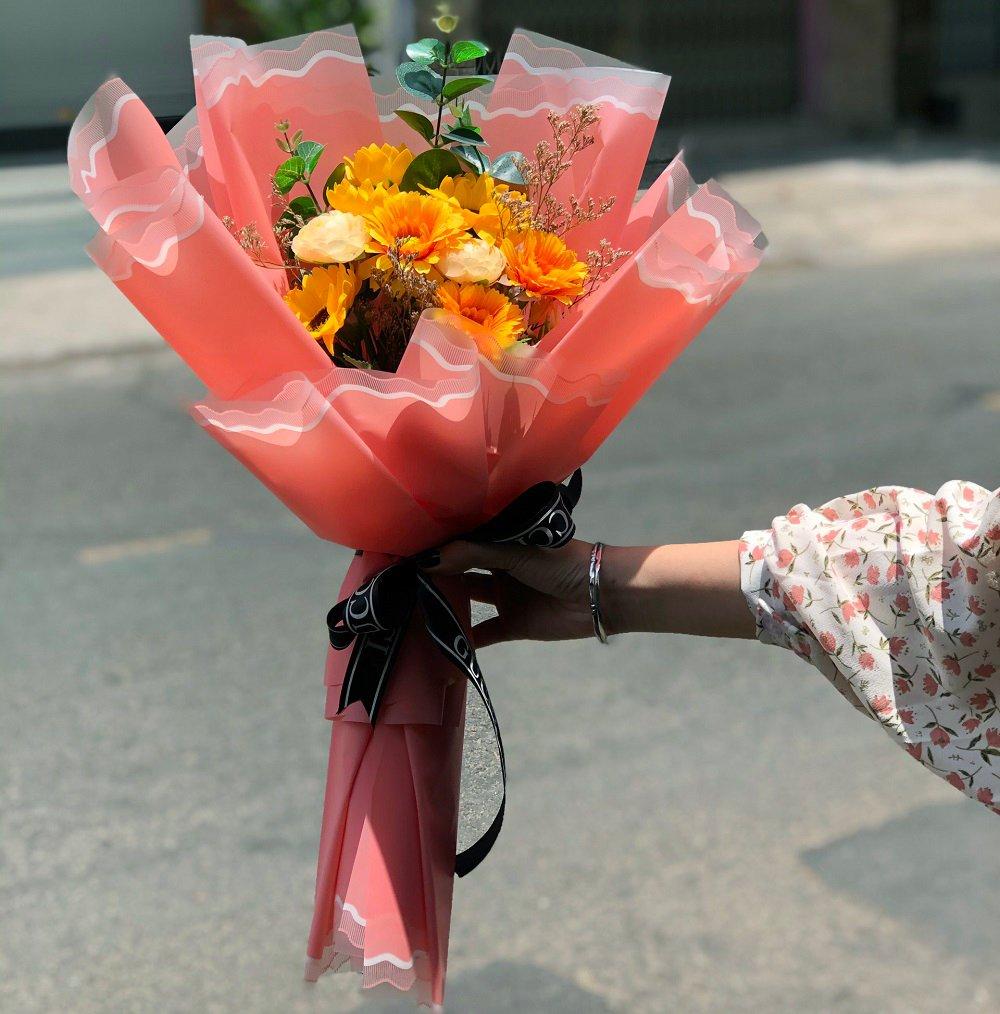 Bó hoa hướng dương sáp thơm 3