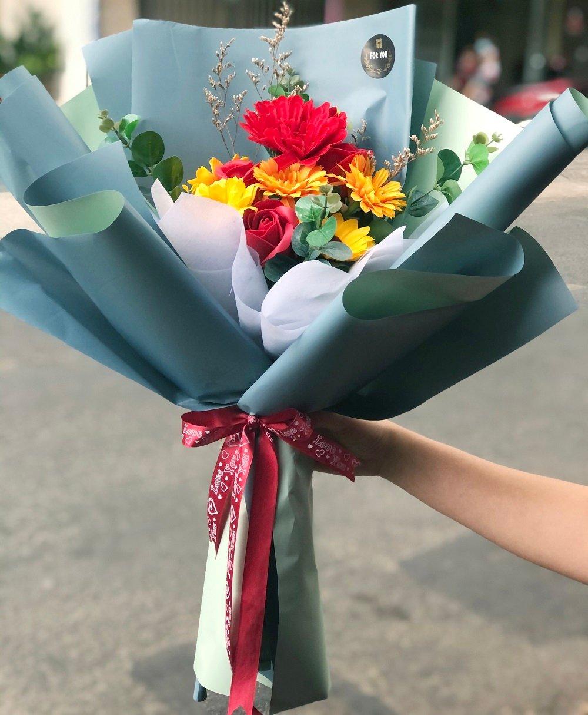 Bó hoa sáp thơm quà tặng mừng tốt nghiệp