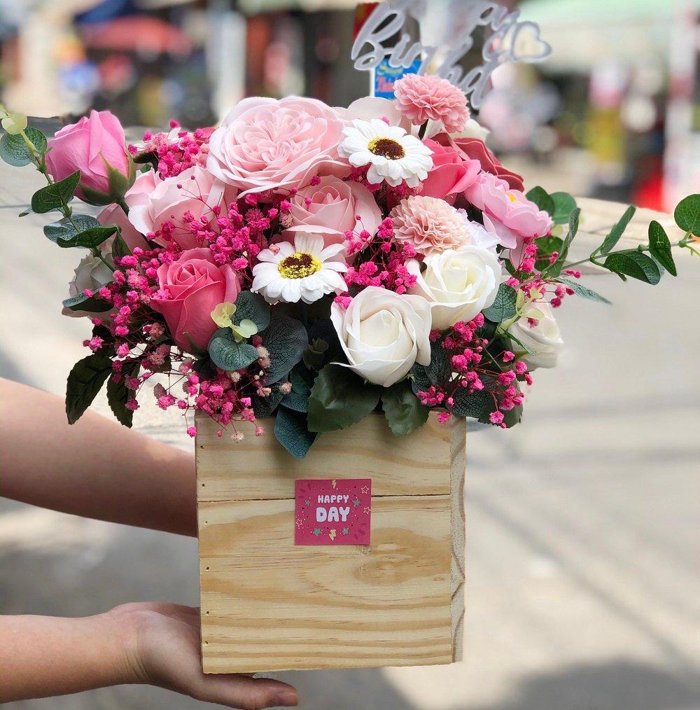 Giỏ hoa sáp thơm HappyDay