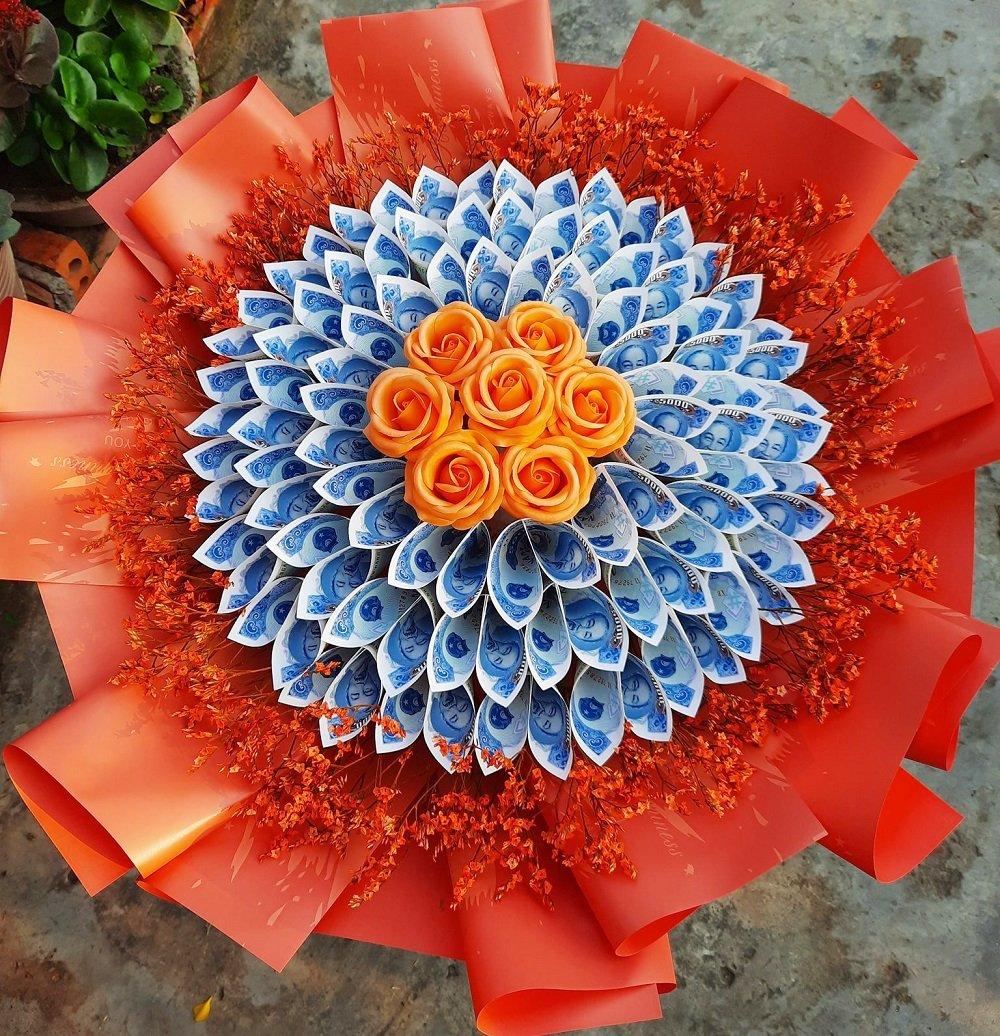 Bó hoa tiền 5k kèm sáp thơm