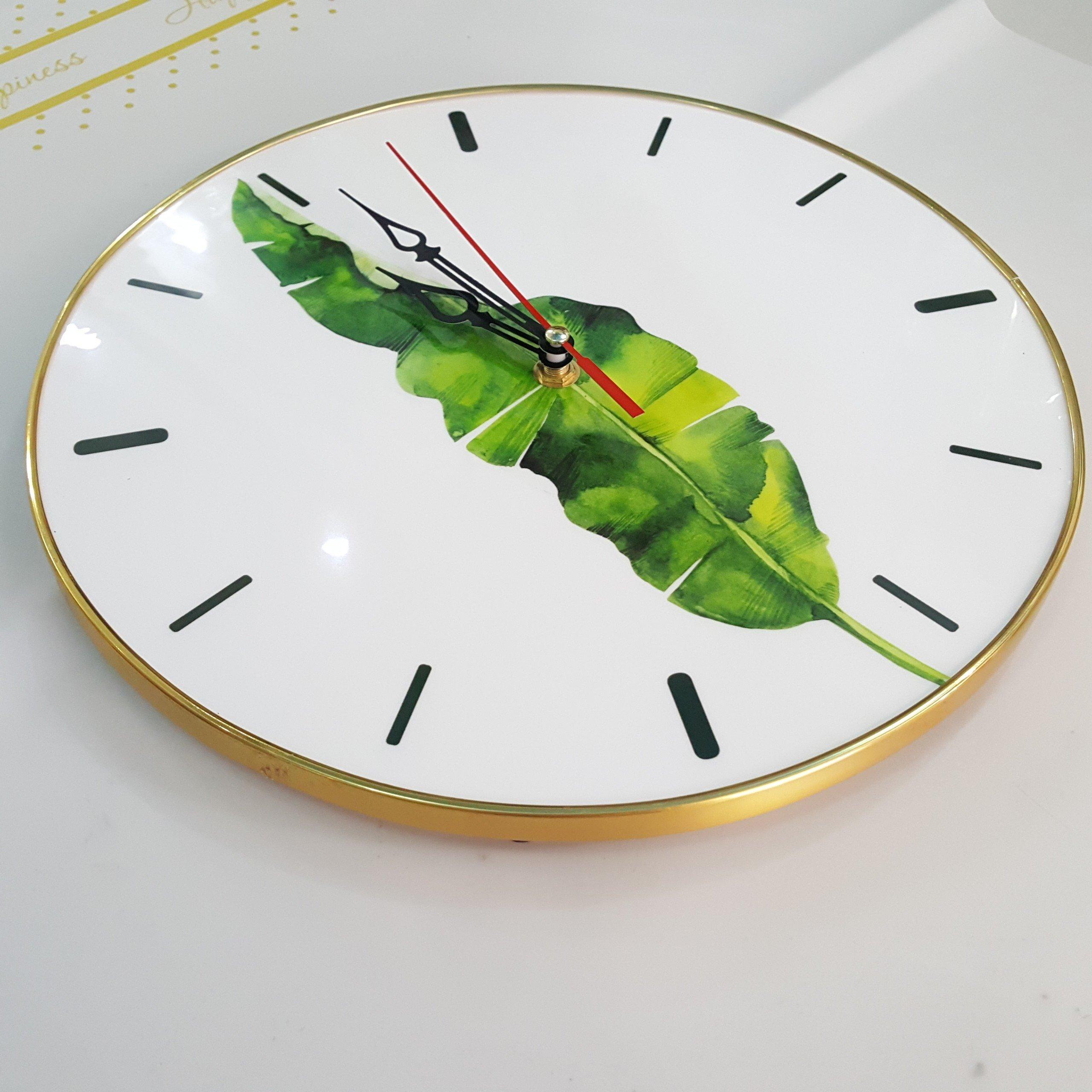 Đồng hồ vintage lá xanh 2