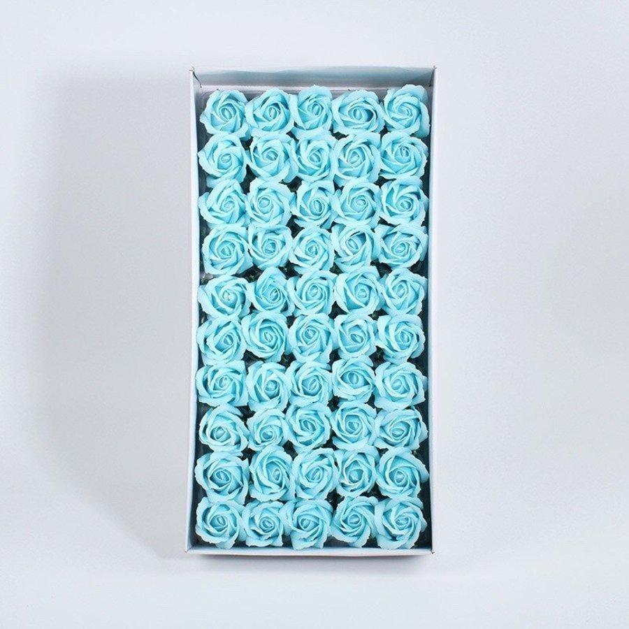 Hộp Hoa Hồng Sáp Thơm Màu Xanh Ngọc 50 hoa