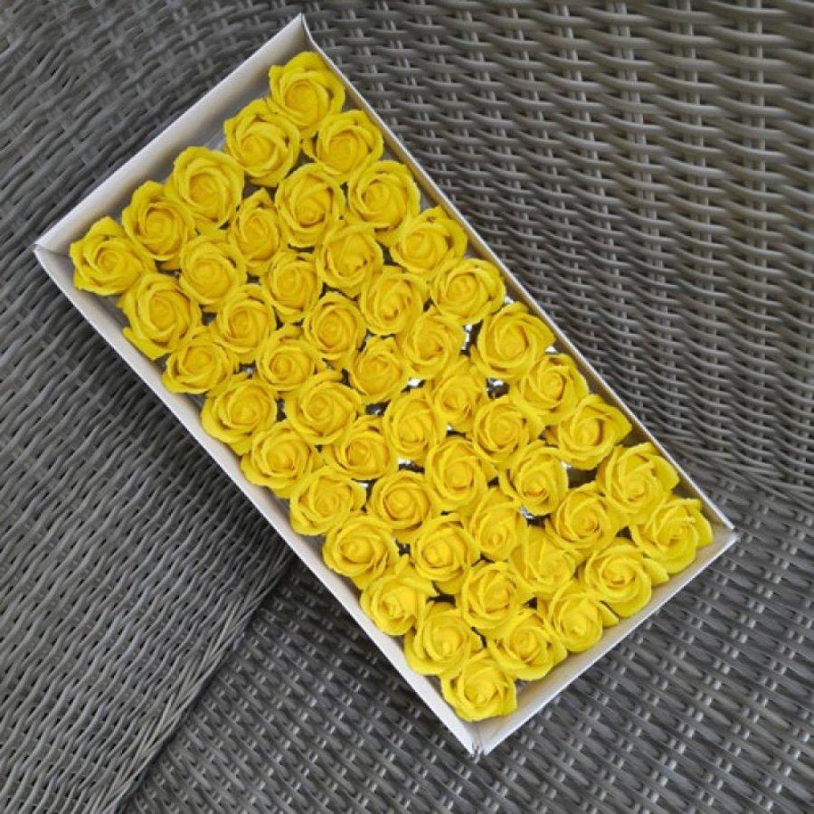 Hộp Hoa Hồng Sáp Thơm Vàng 50 Hoa