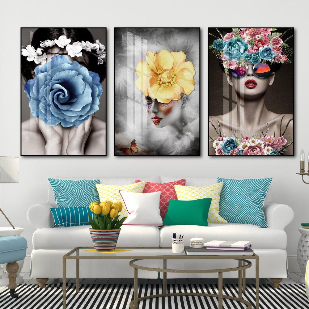 tranh treo tường cô gái nghệ thuật