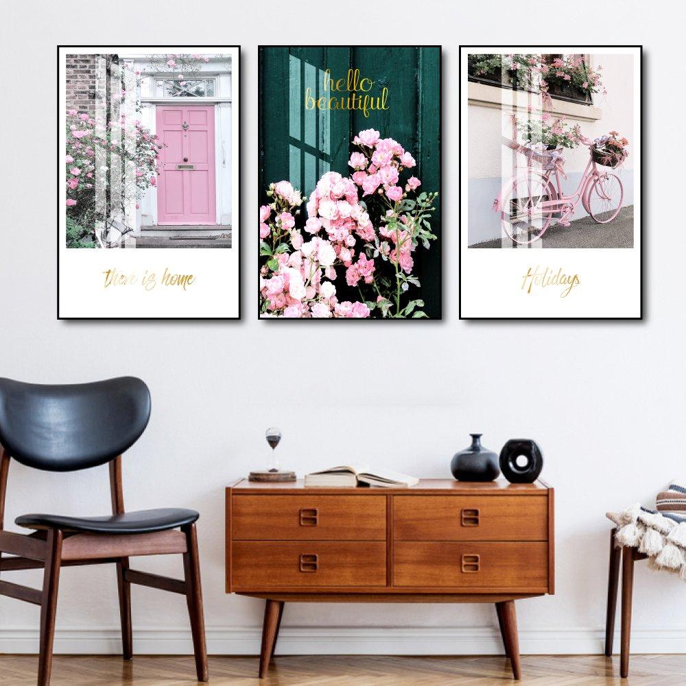 Tranh treo tường cuộc sống màu hồng