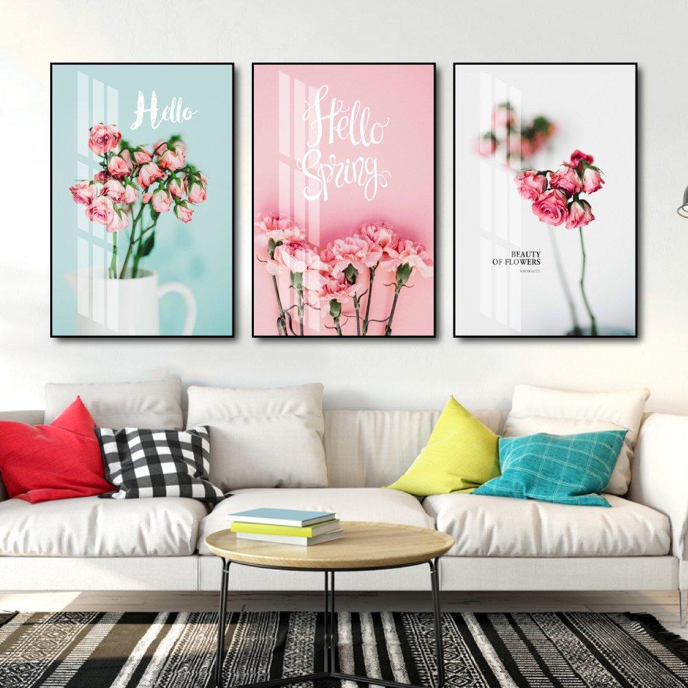 Tranh treo tường hoa hồng hello spring