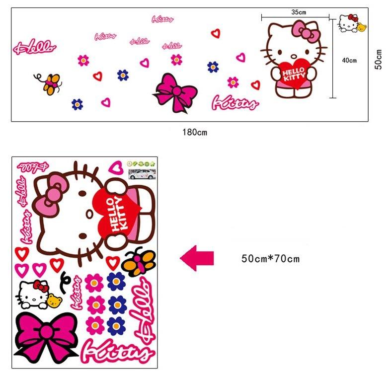 Giấy decal dán tường Hello Kitty 1