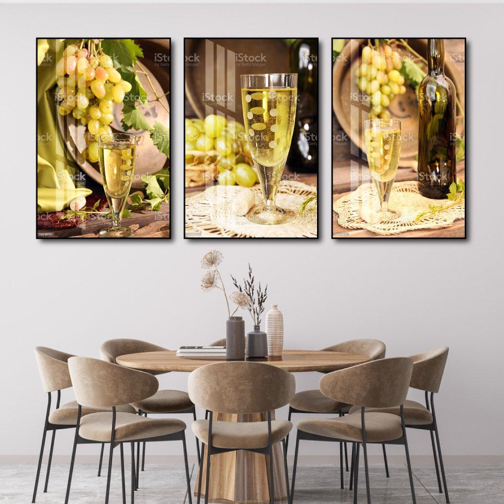 Tranh treo tường bếp phòng ăn nghệ thuật rượu nho