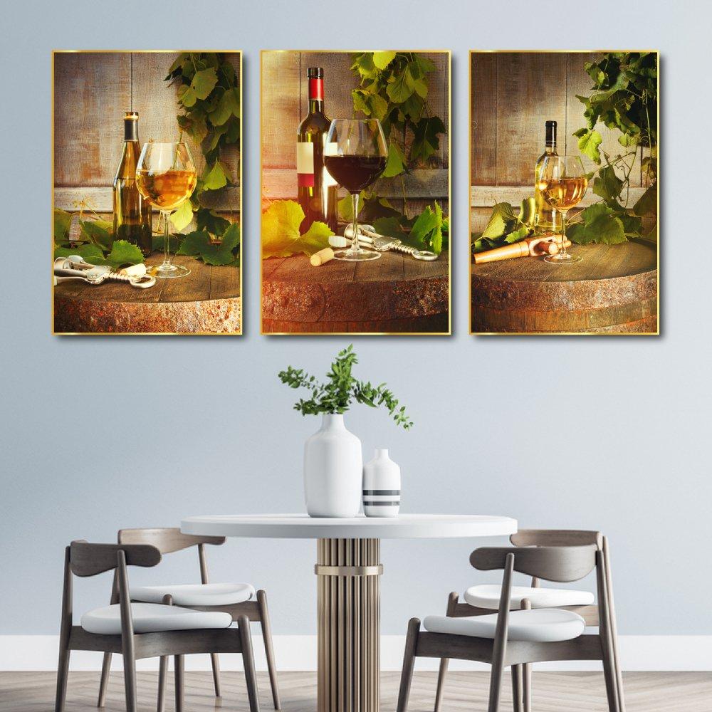 Tranh treo tường nhà bếp phòng ăn nghệ thuật rượu vang