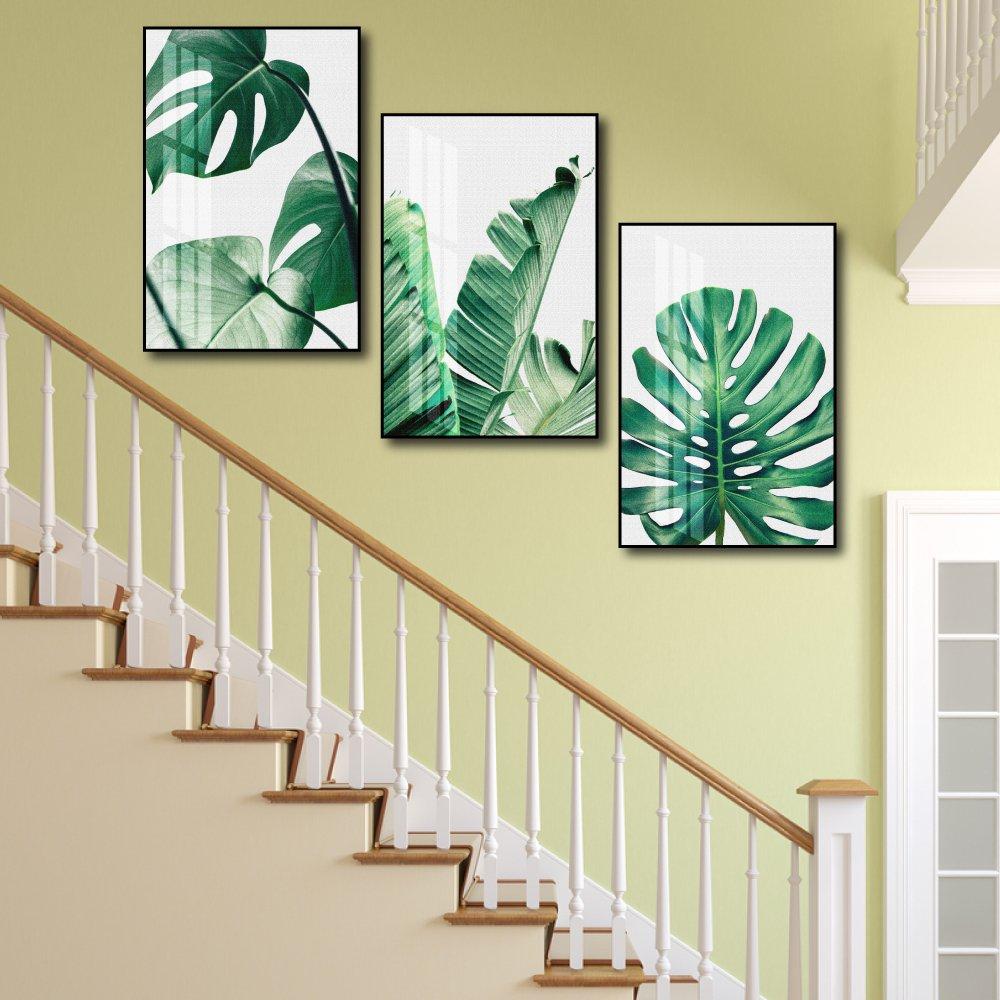 Tranh treo tường lá xanh