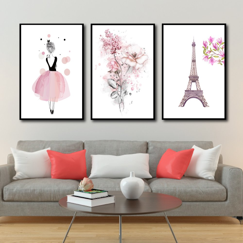 Tranh Treo Tường Cô Gái Và Tháp Eiffel