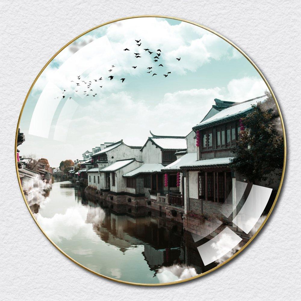 Tranh Tròn Tráng Gương Phong Cảnh Thiên Nhiên 4