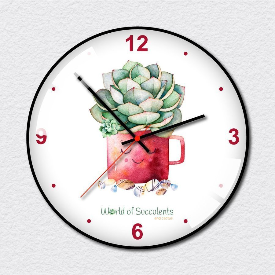 Đồng hồ vintage chậu sen đá
