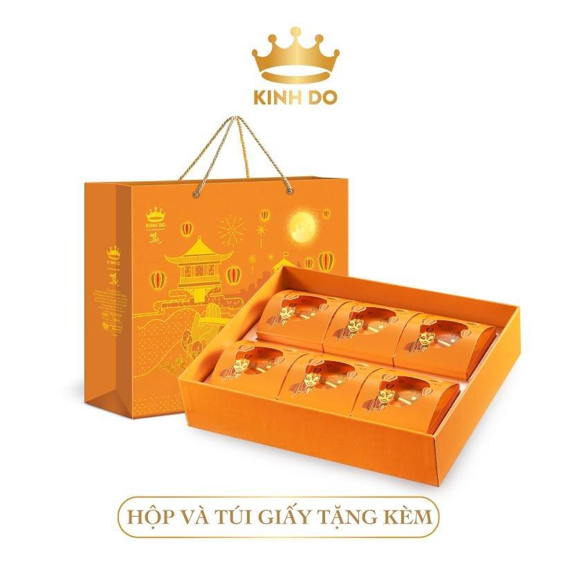Hộp 6 Bánh Trung Thu Kinh Đô Lava Trứng Chảy 80gr/bánh
