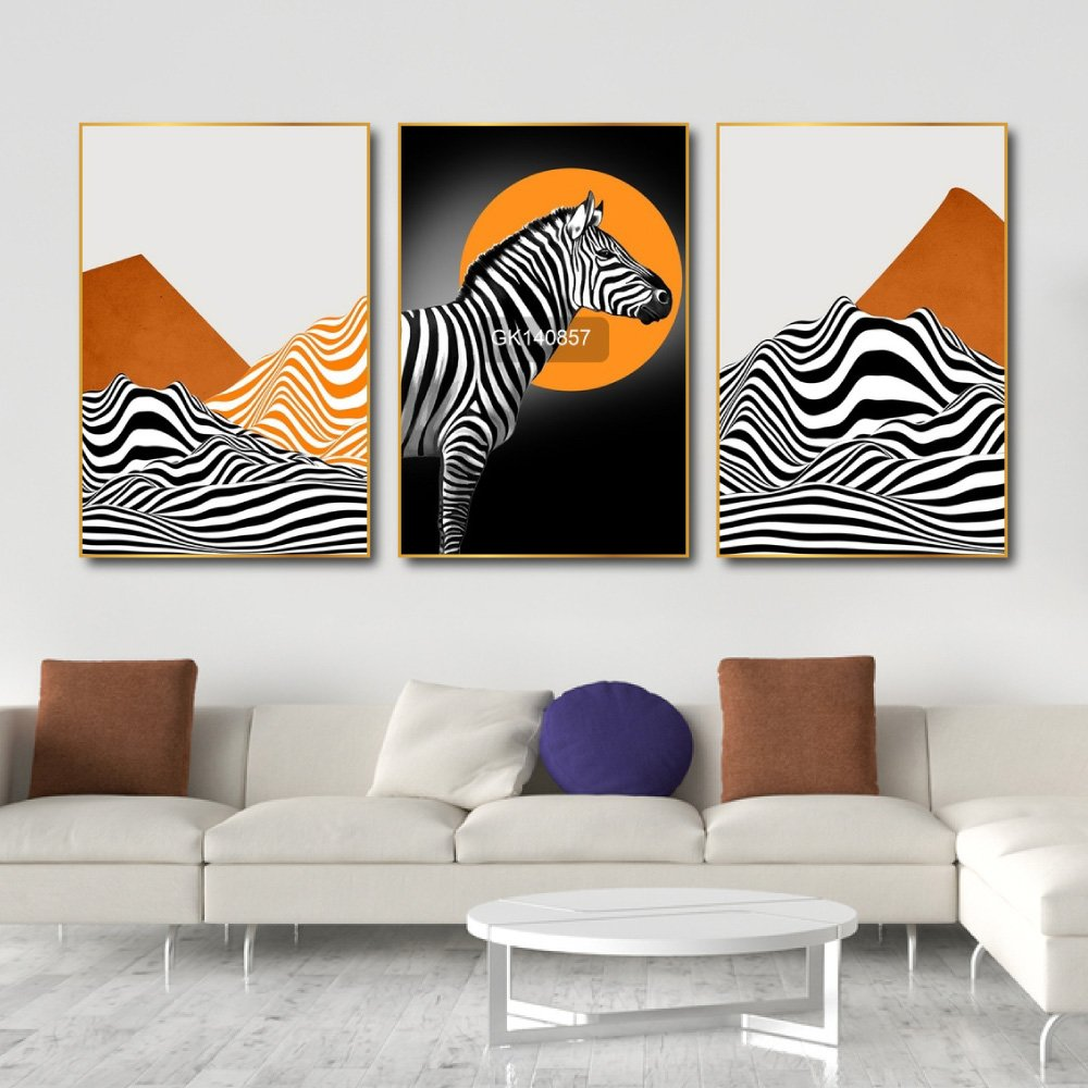 Tranh Treo Tường Ngựa Vằn Nghệ Thuật 3