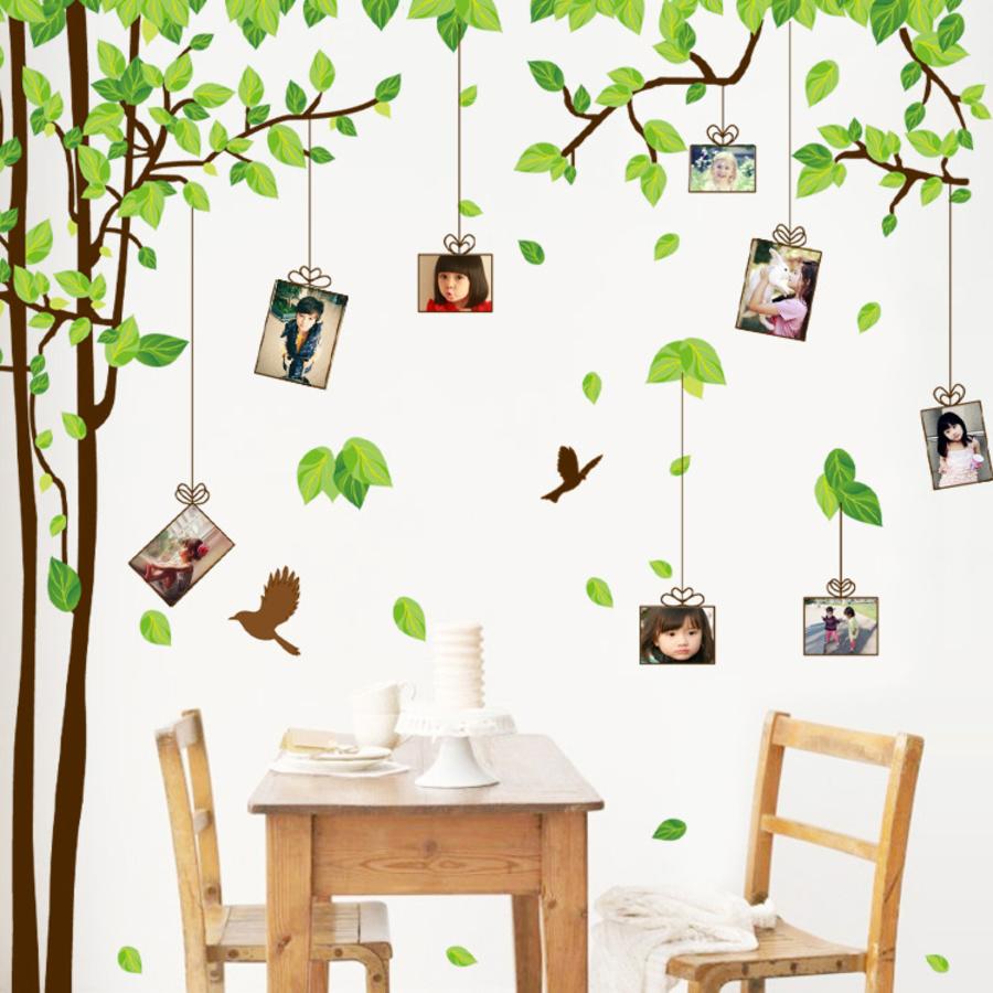 Decal dán tường cây photo 2
