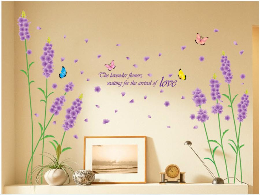 Decal dán tường Lavender