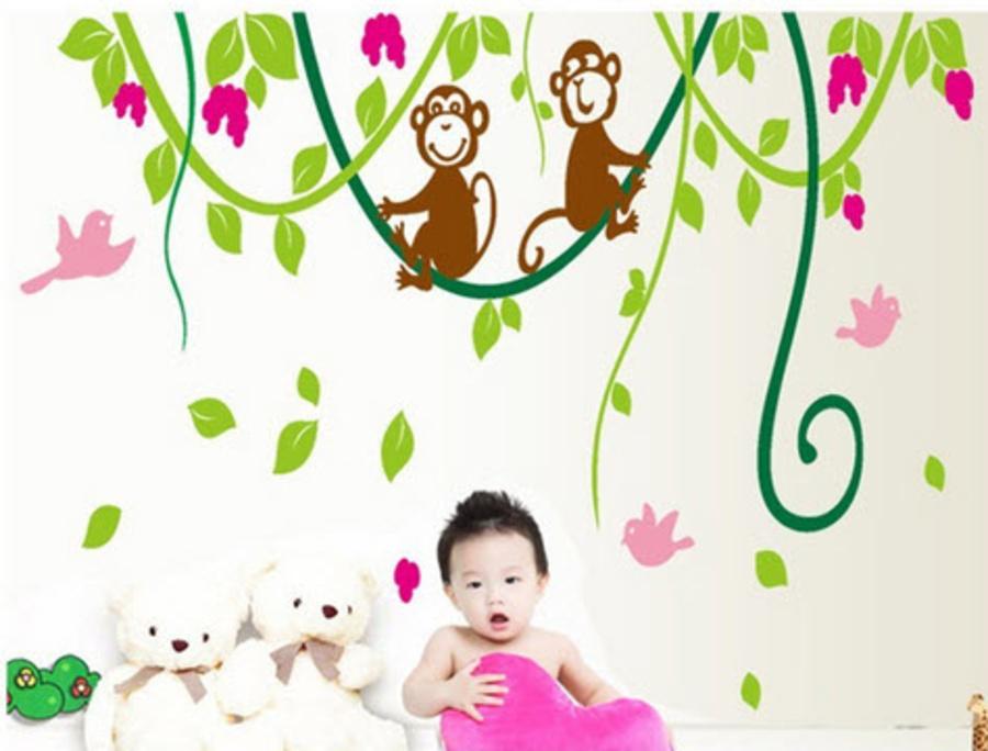 Đàn khỉ đu dây hồng