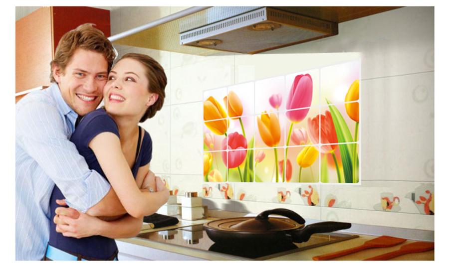 Dán bếp Hoa Tulip