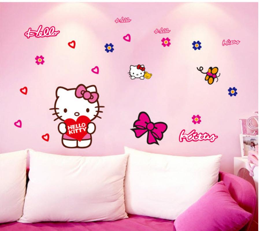 Decal dán tường hello Kitty 1