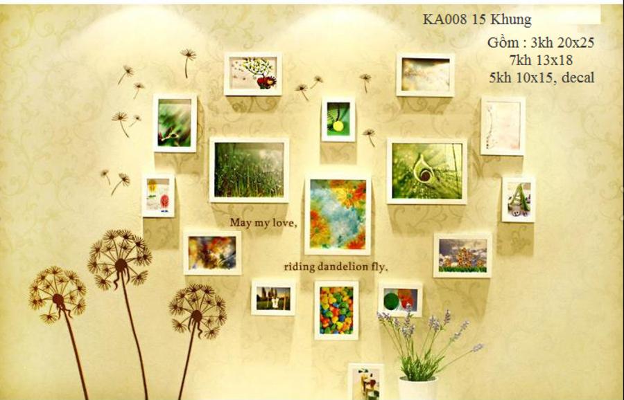 Khung ảnh bộ 15 khung - KA008