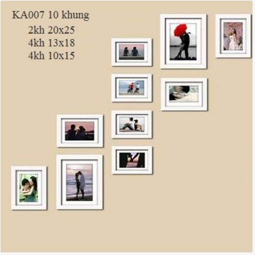 khung ảnh bộ 10 khung - KA007