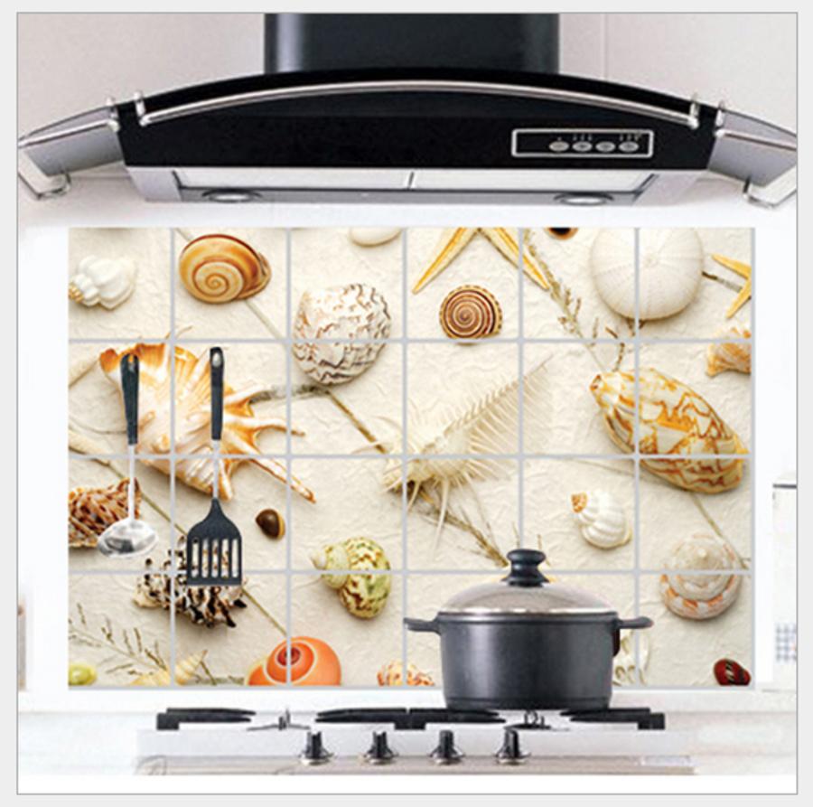 Dán bếp nhôm các vỏ ốc size 60x90cm