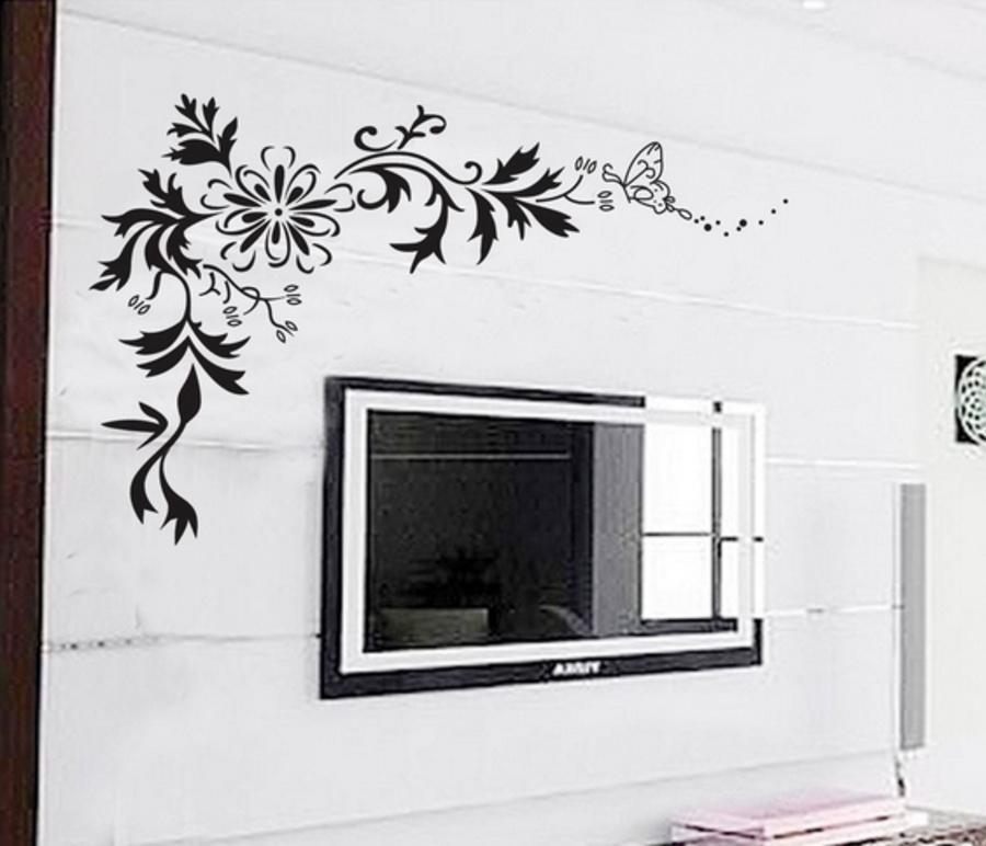 Decal dán tường họa tiết đen 3