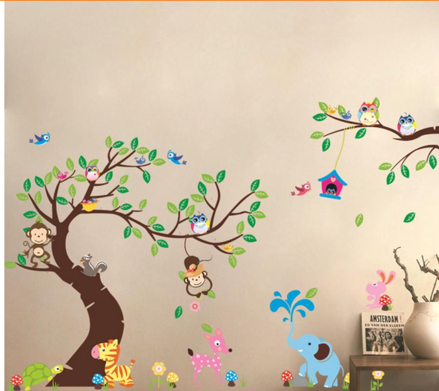Decal dán tường vườn thú to 9 hiệu Zooyoo