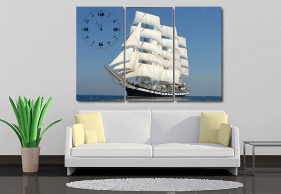 Tranh đồng hồ thuận buồm xuôi gió 19