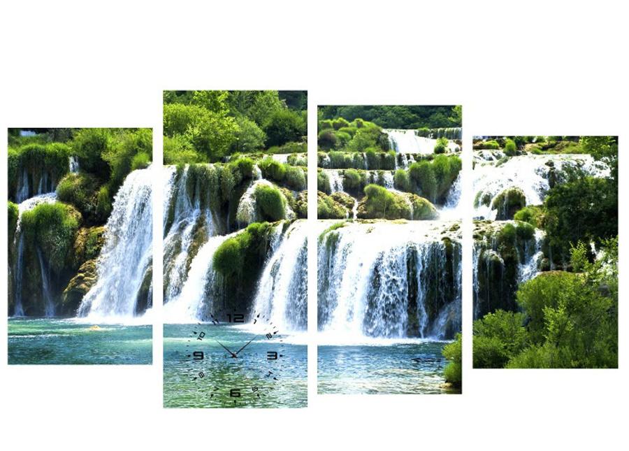 Tranh đồng hồ thác nước cách điệu