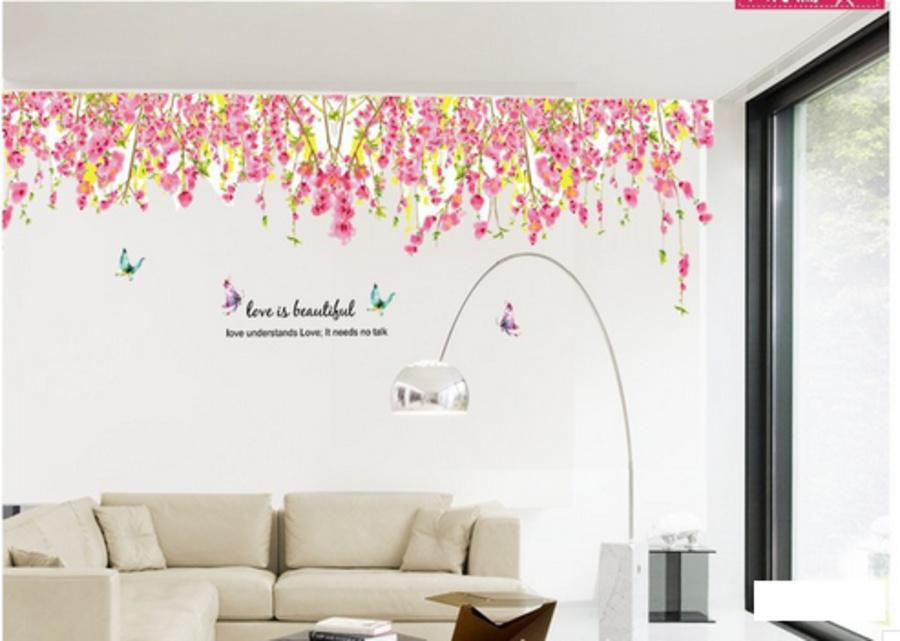 Giàn hoa loa kèn hồng