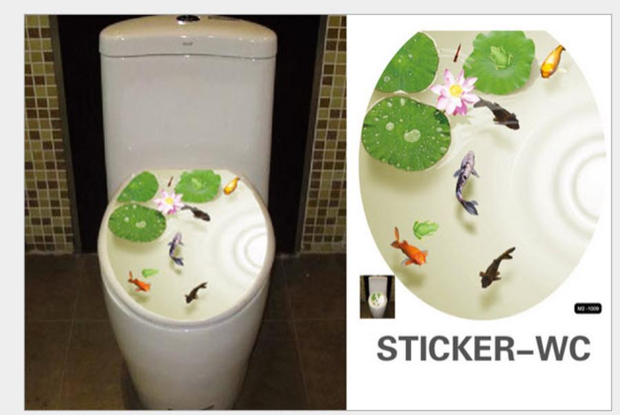 Dán toilet đầm sen