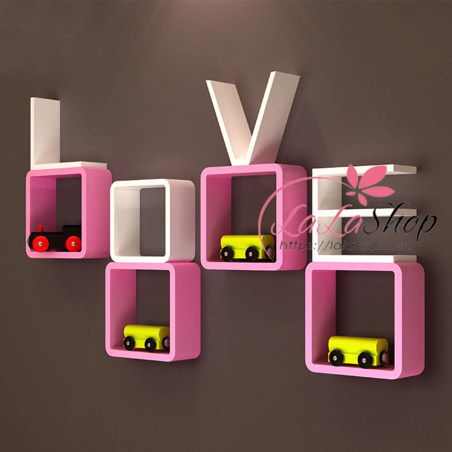 Kệ gỗ chữ love MSLO06