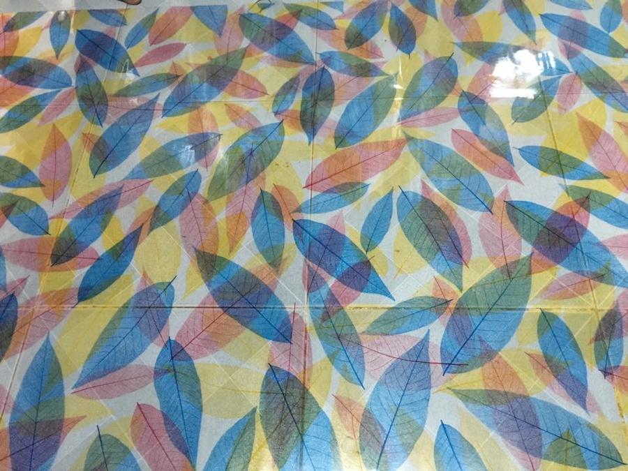 Decal cuộn kính mờ lá đủ màu Octki (021)