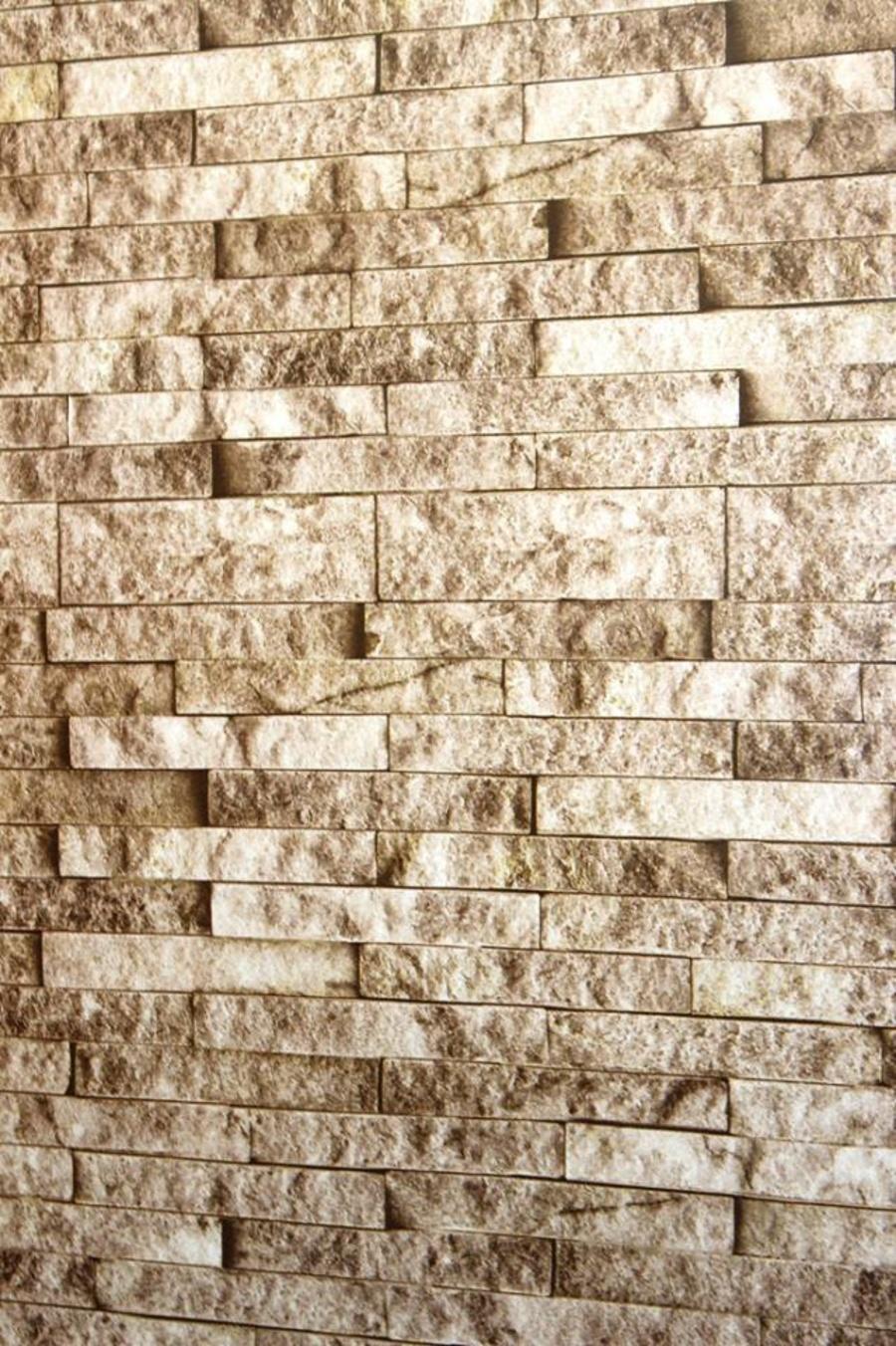 Giấy Decal cuộn giả đá dài màu nâu