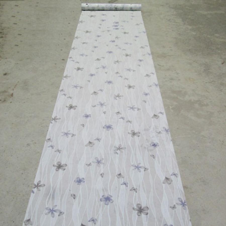 Decal cuộn kính mờ họa tiết dây leo tím Octki (060)