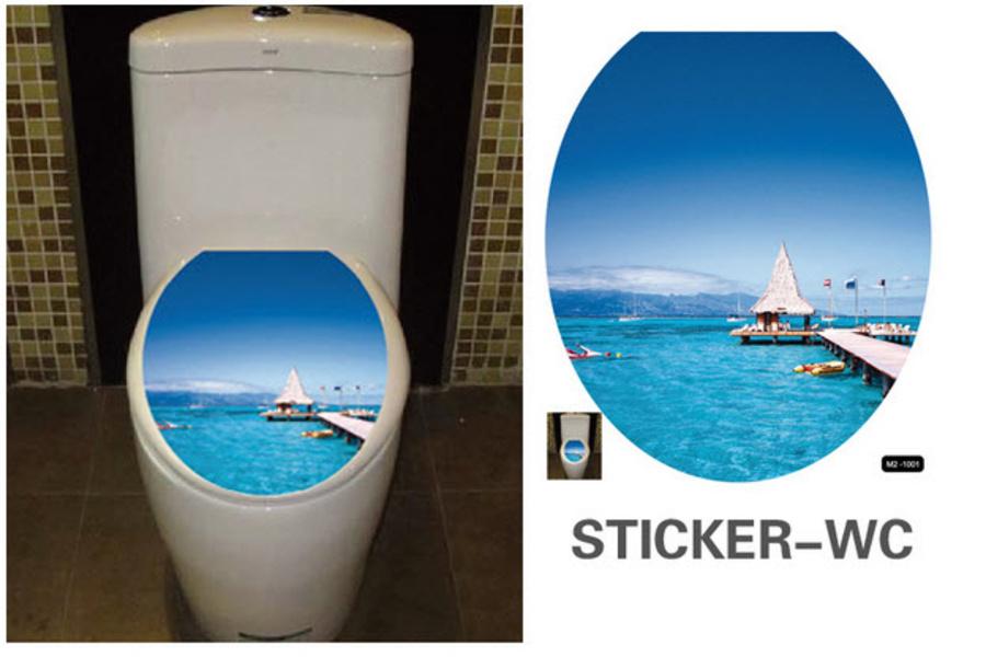 Dán toilet bãi biển