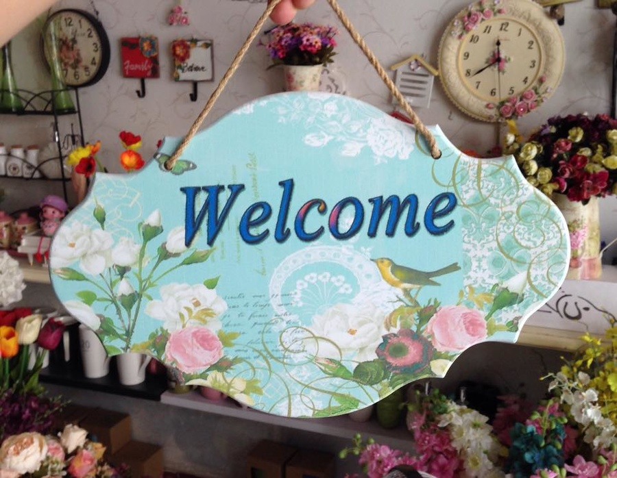 Bảng treo welcome số 2