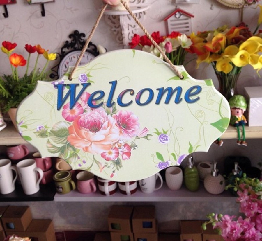 Bảng treo welcome số 1