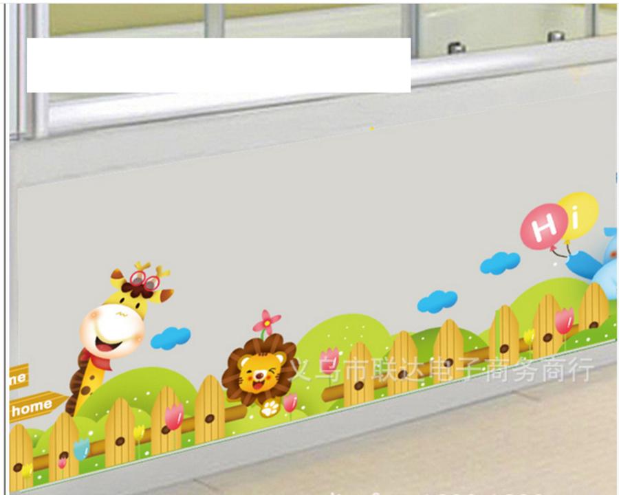 Decal dán tường Hàng rào vườn thú