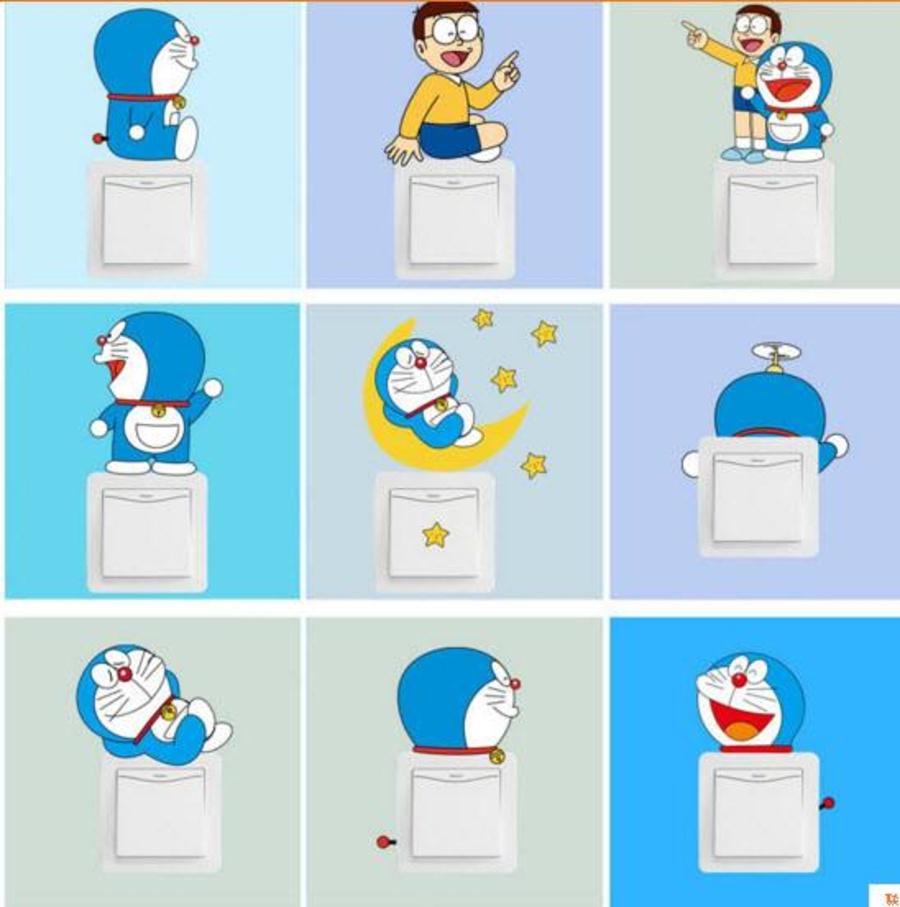 Ổ điện 10 cái hình Doremon và Nobita