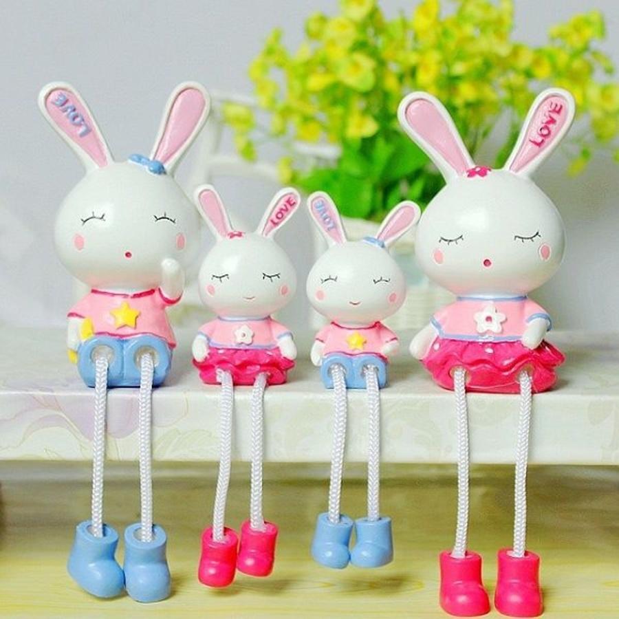 Búp bê gia đình thỏ 4 con
