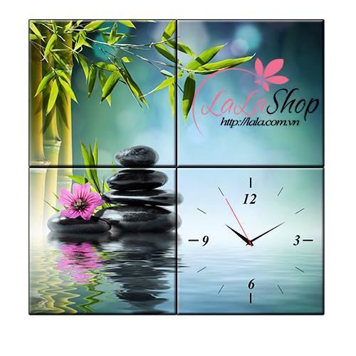 Tranh đồng hồ Spa 5 size 25x25x4