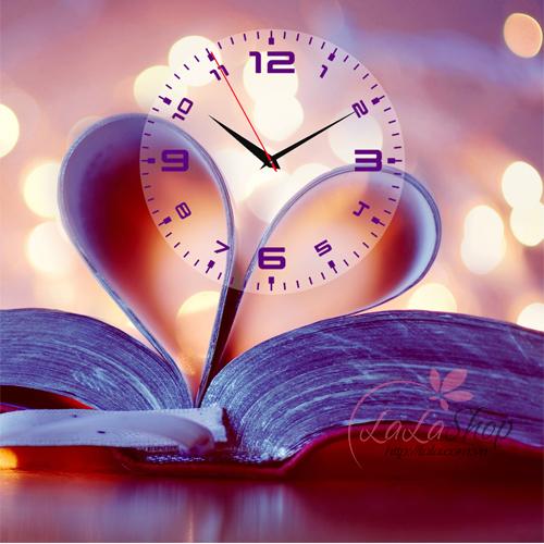 Tranh đồng hồ Cuốn sổ tình yêu