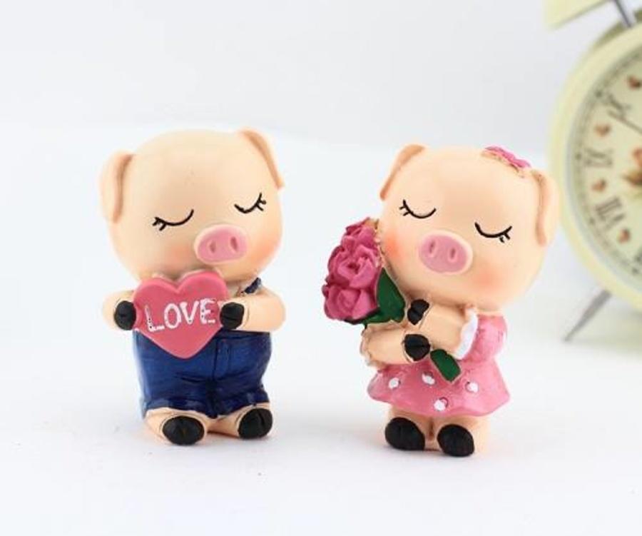 Cặp heo con love