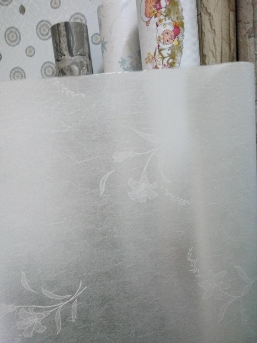 Decal cuộn kính mờ họa tiết hoa ly trắng  Octki (E0031)