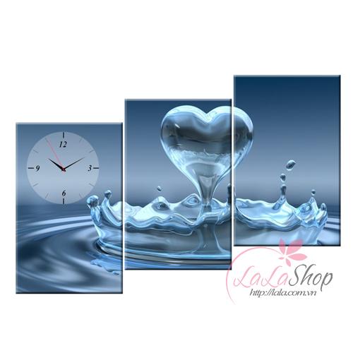 Tranh đồng hồ Giọt nước cách điệu